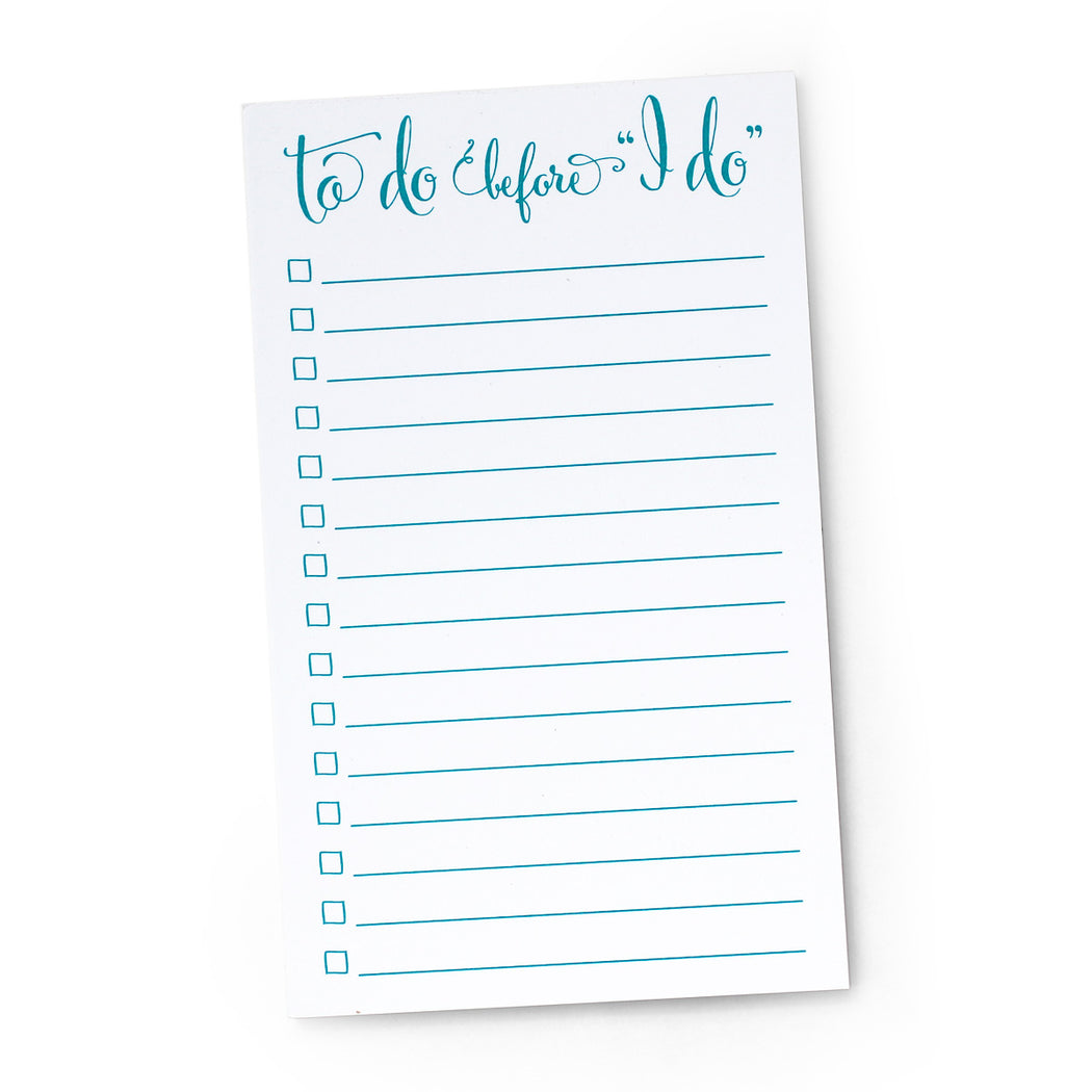 To Do Before I Do Bridal Notepad