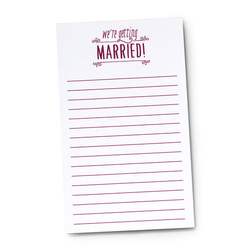 We're Getting Married Notepad for Bride to Be Planning