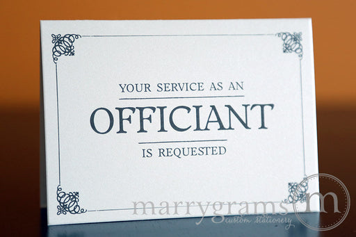 Your Service as an Officiant Is Requested Card
