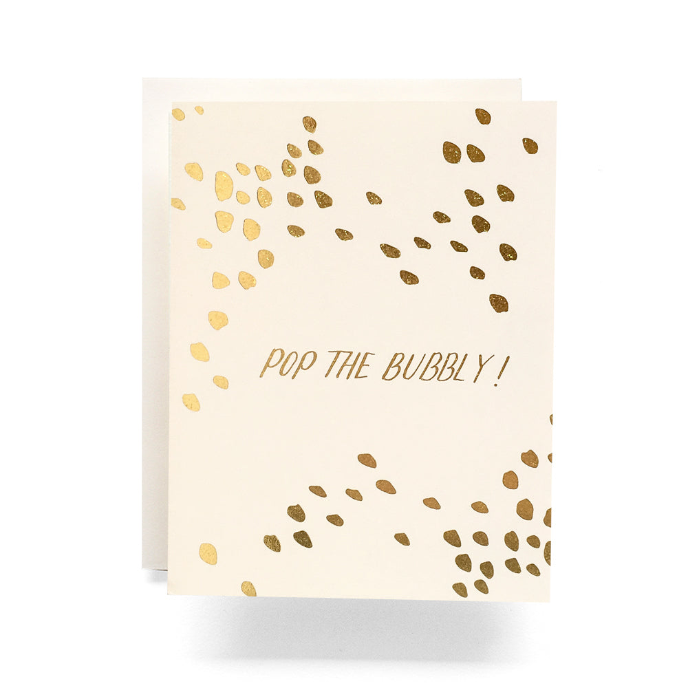 Pop the Bubbly Ivory Card