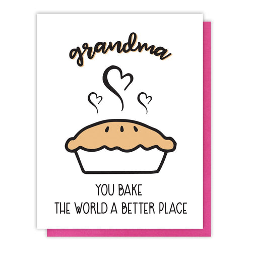 Bake the World a Better Place Grandma Letterpress Card