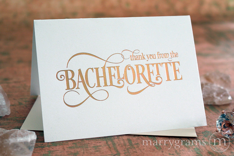 Rose Gold Foil From the Bachelorette Thank You Cards
