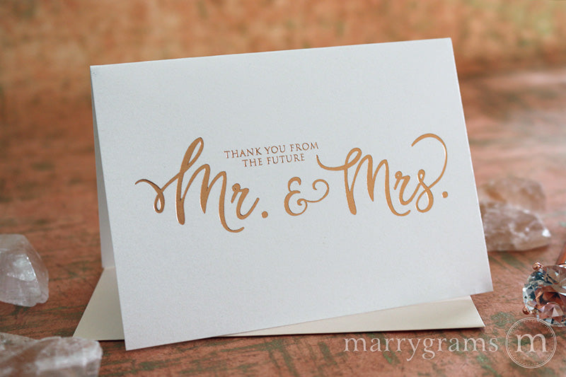 Foil Future Mr. & Mrs. Thank You Cards