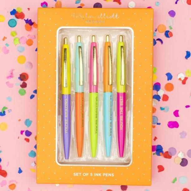 Complimentary Pen Set (Pack of 5) colored ink pens
