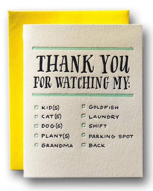 Thanks for Watching My... Card