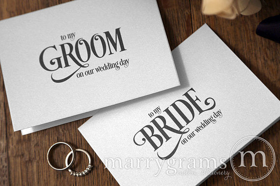 To My Bride or Groom Wedding Day Card Enchanting Style