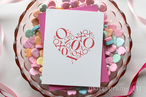 Valentines Card | XOXO Heart Design