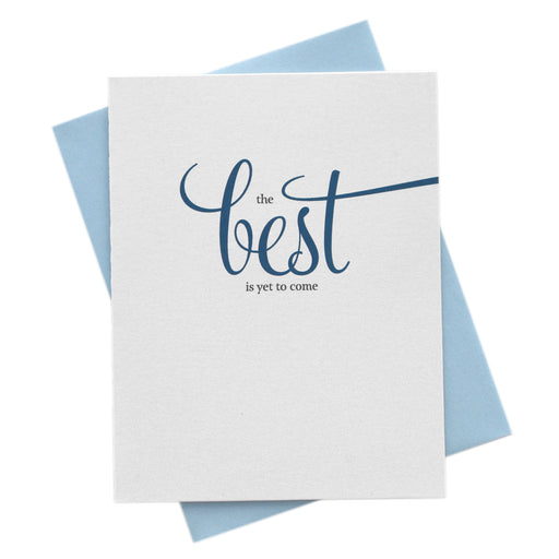 The Best is Yet to Come Wedding Wishes Card