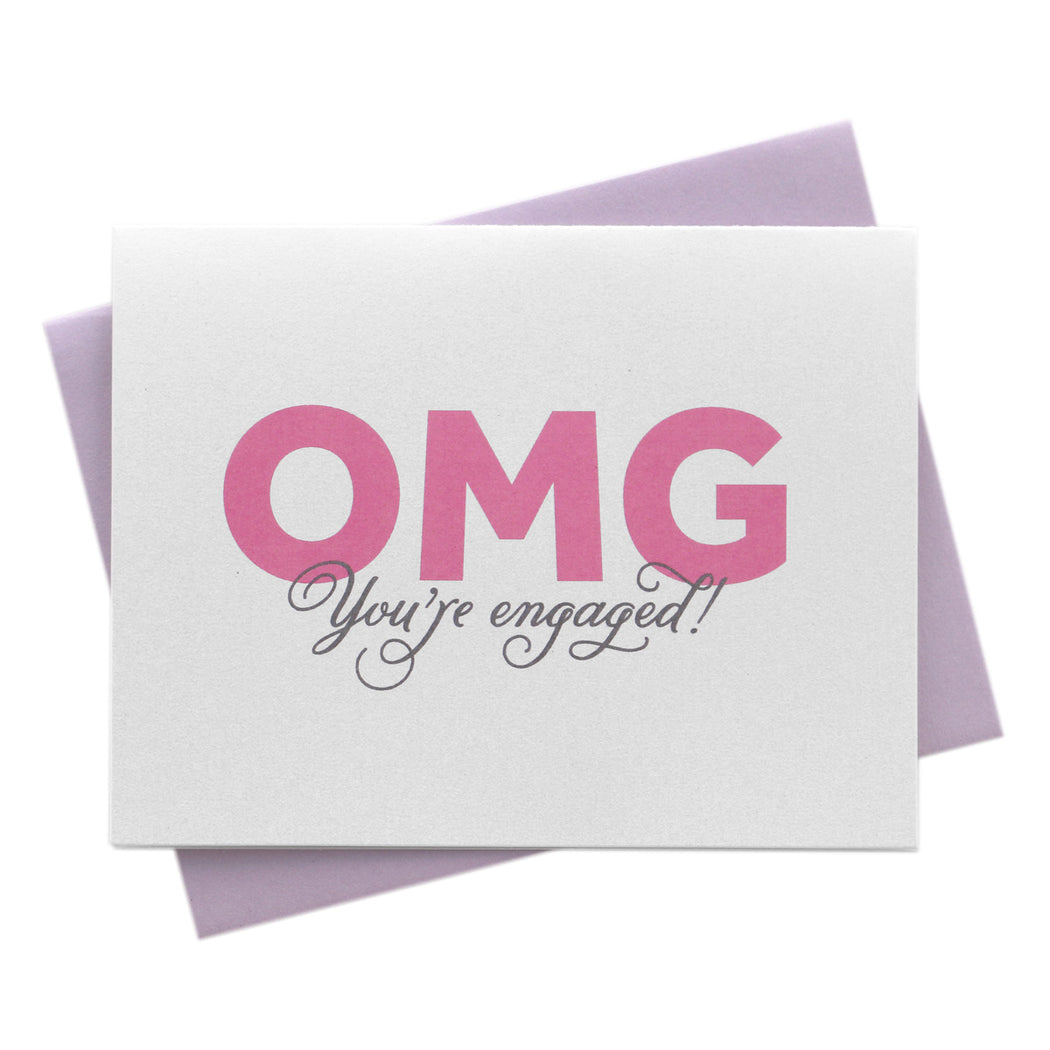 OMG You're Engaged! Card