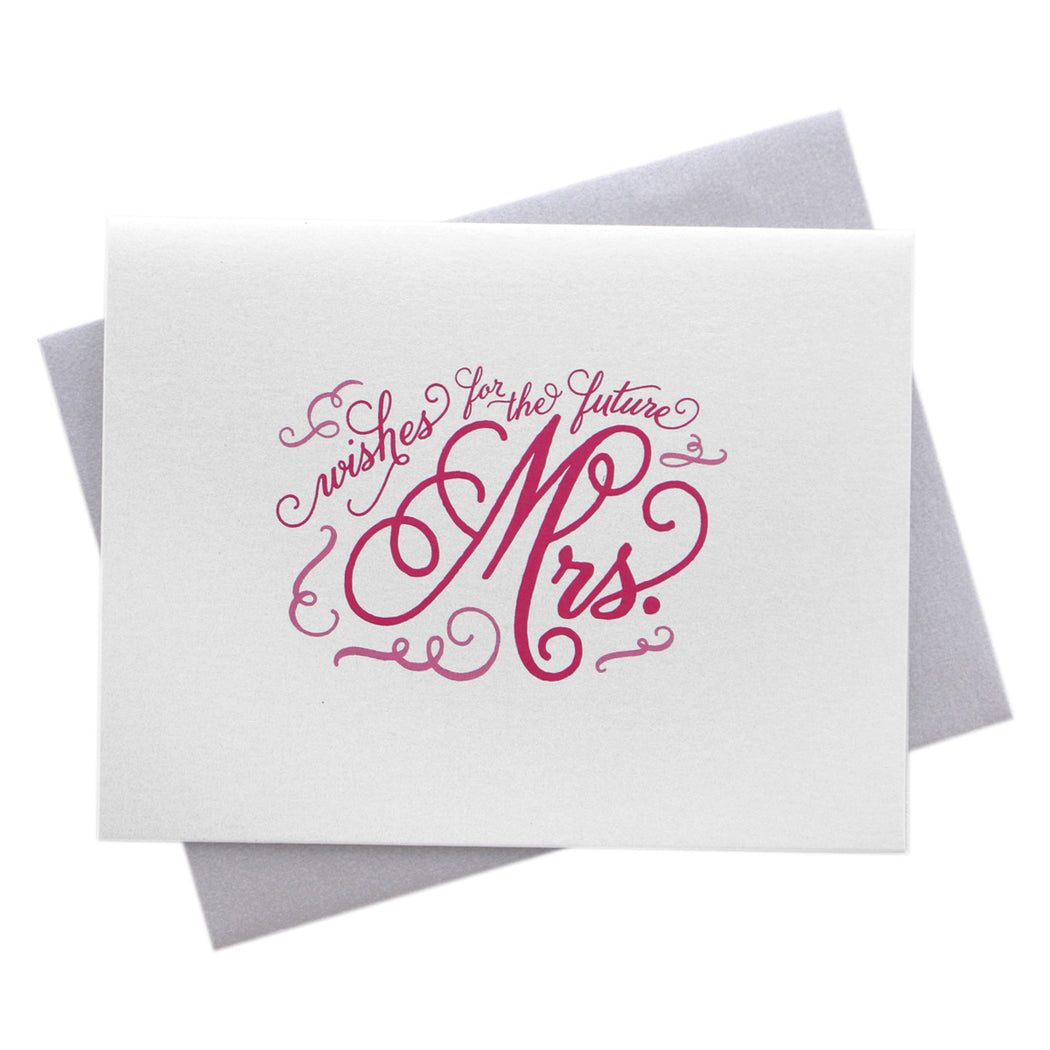 Wedding Card Wishes.Wishes For The Future Mrs Wedding Card Marrygrams