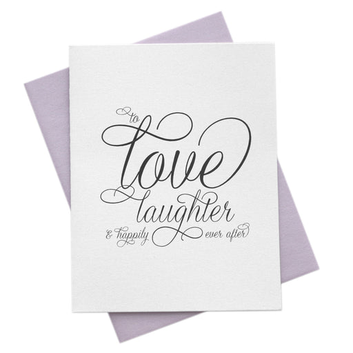 Love & Laughter Happily Ever After Wedding Card
