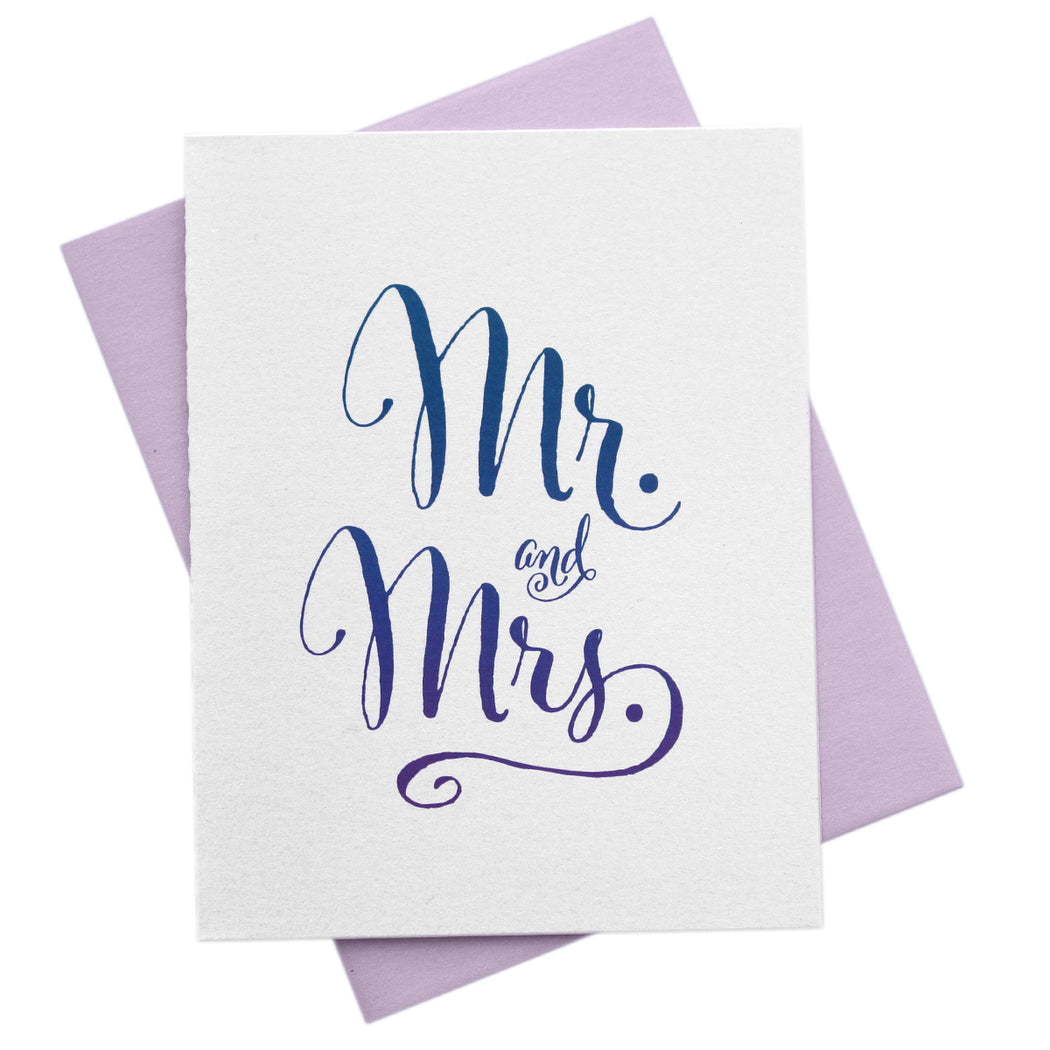 Mr. and Mrs. Ombre Wedding Card
