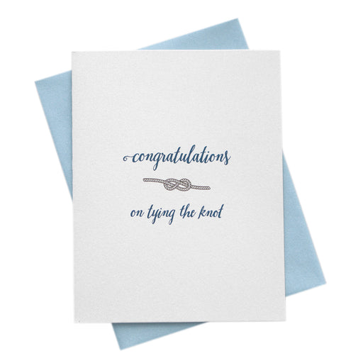 Tying the Knot Wedding Congratulations Card