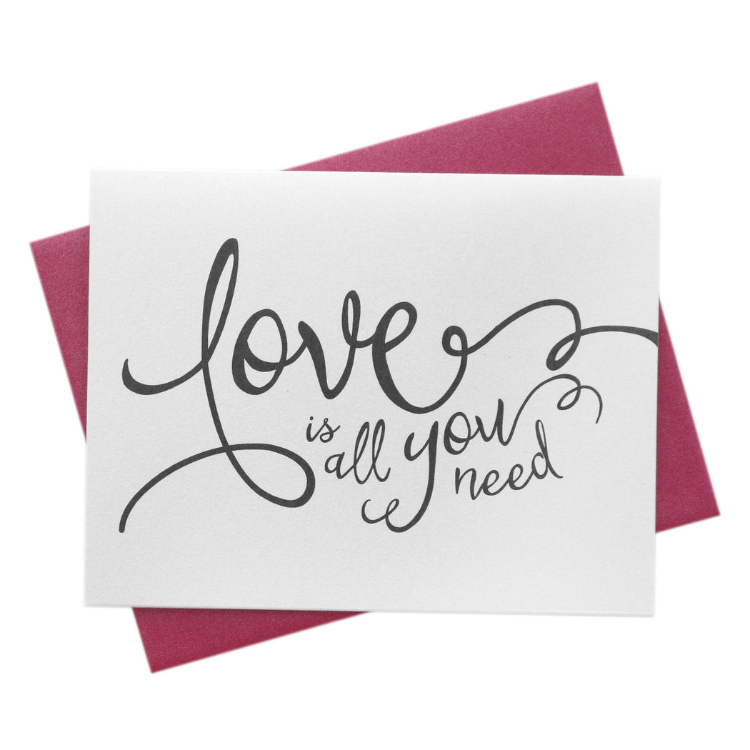 Love is All You Need Engagement Wedding Wishes Card