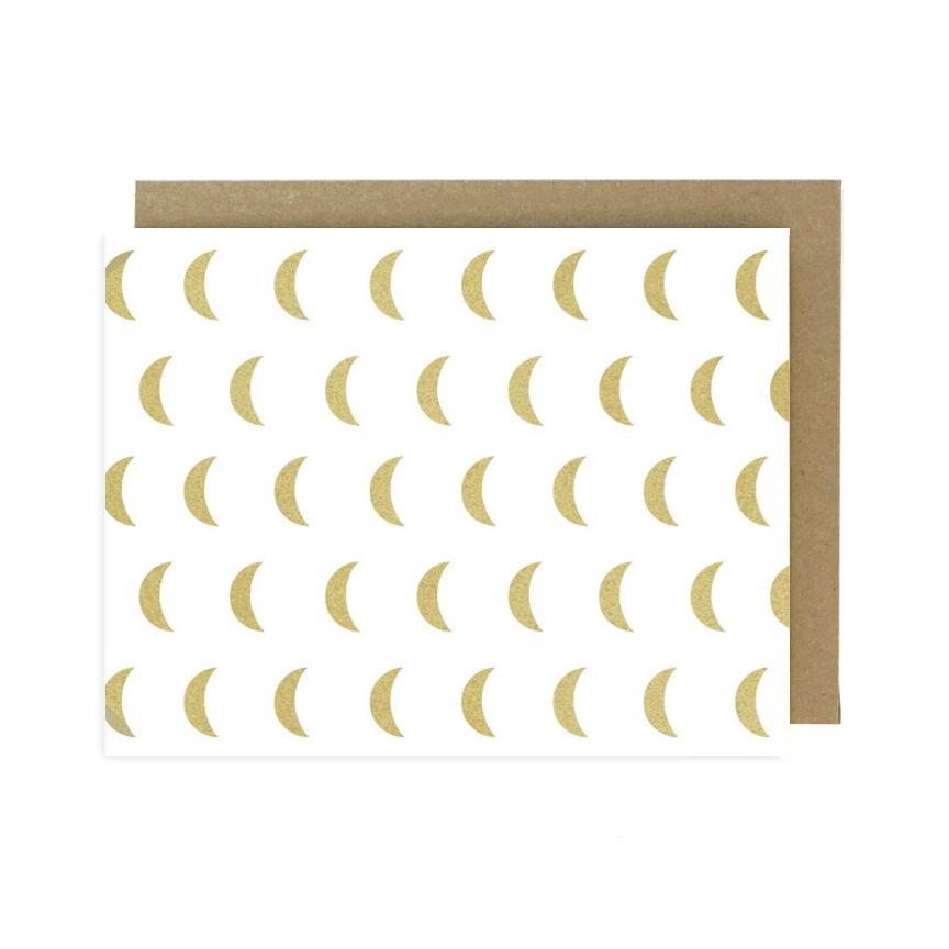 Gold Moon Pattern Card