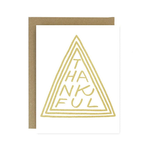Thankful Triangle Gold Card