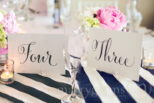 Wedding Table Number Signs Whimsical Style