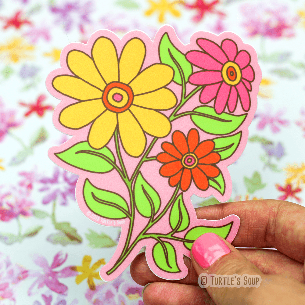 Wildflowers Vinyl Sticker