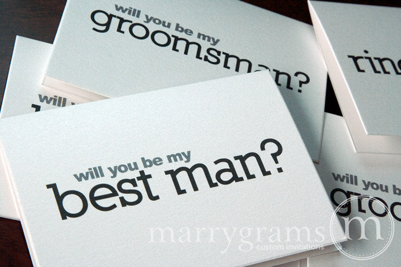Will You Be My Groomsman Proposal Card Block Style