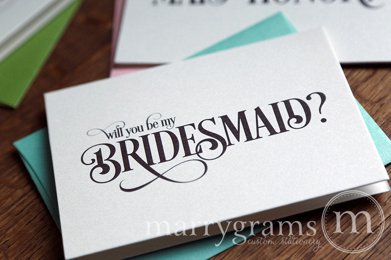 Will You Be My Bridesmaid Proposal Card Enchanting Style