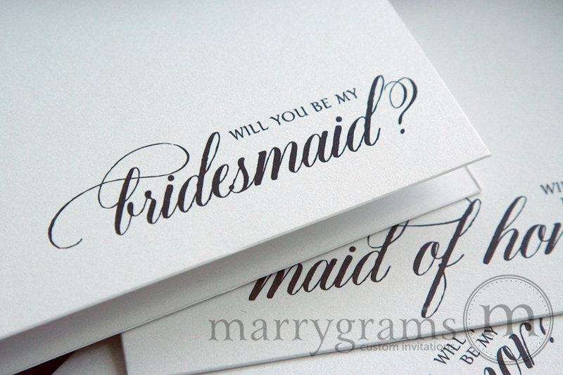Will You Be My Bridesmaid Proposal Card Calligraphy Style