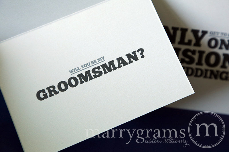 I Only Get One Decision Be My Groomsman Invitation Card