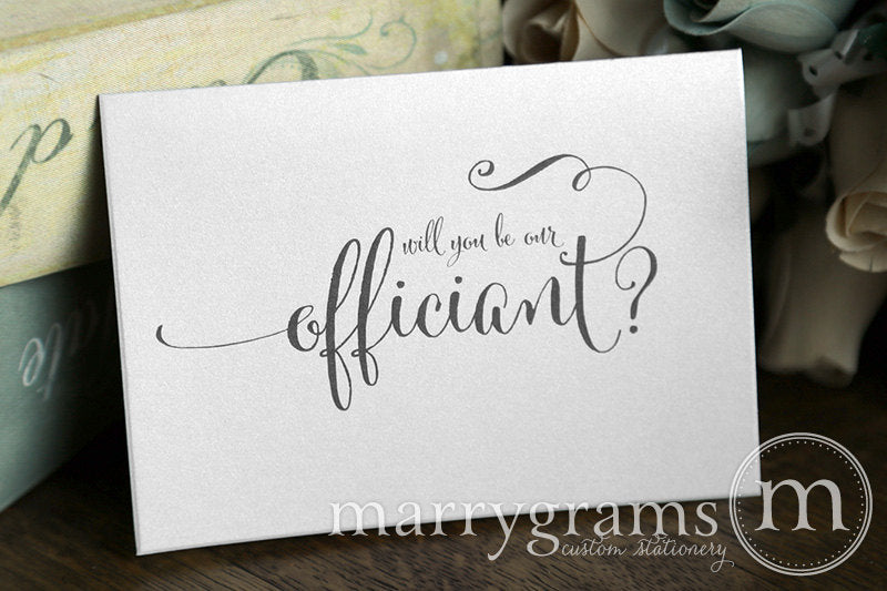 Will You Be Our Officiant Card Whimsical Style