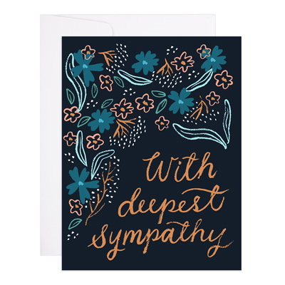 With Deepest Sympathy Floral Card