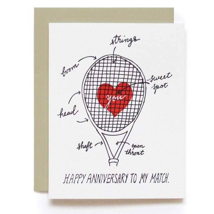 Sweet Spot Anniversary Match Tennis Card