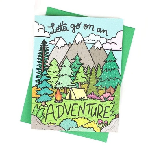 Let's Go On an Adventure Mountains Card