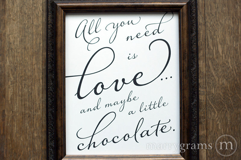 All You Need Is Love Candy Buffet Sign Diagonal Style