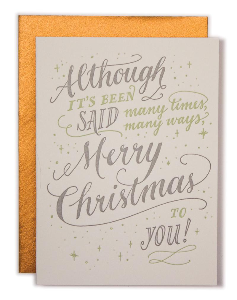 Although it's Been Said Holiday Letterpress Card