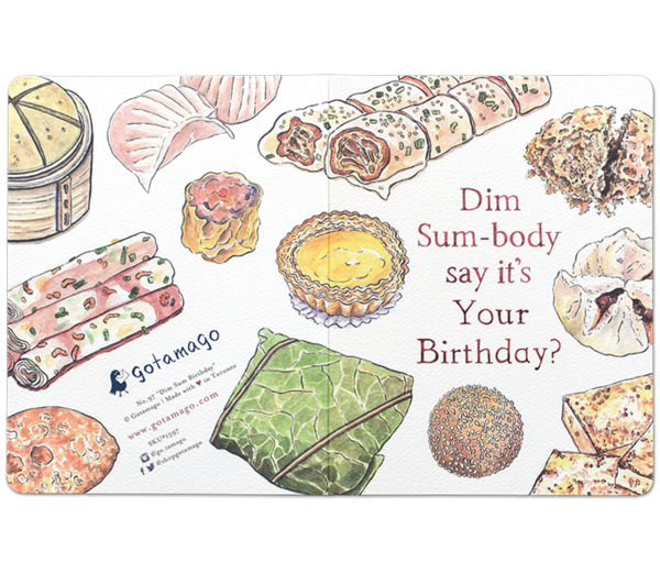 Dim Sum-body say it's your Birthday takeout Card