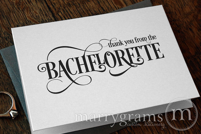 Thank You From The Bachelorette Bridal Shower Card Enchanting Style