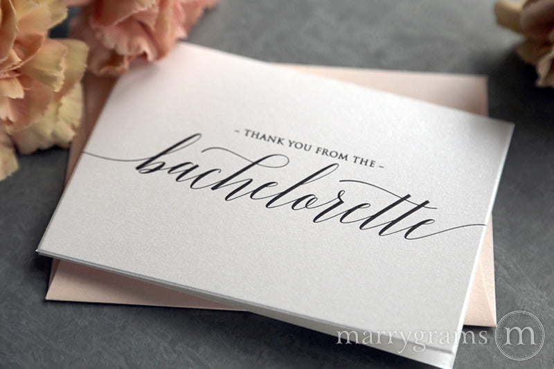 Thank You From The Bachelorette Bridal Shower Card Delicate Style