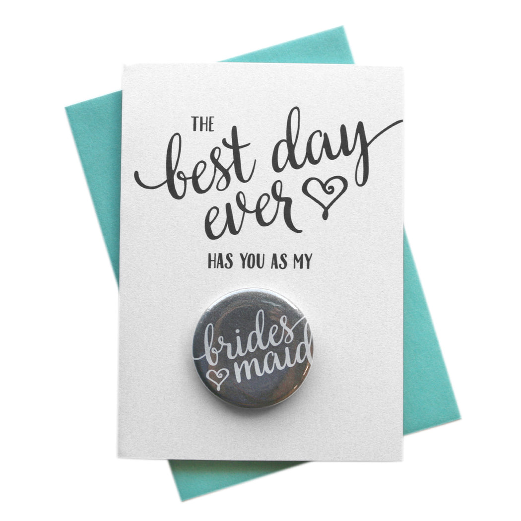 Best Day Ever Heart Style Button Cards