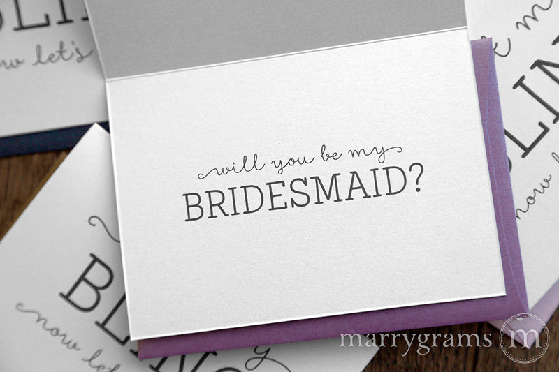 I Got My Bling Will You Be My Bridesmaid Cards