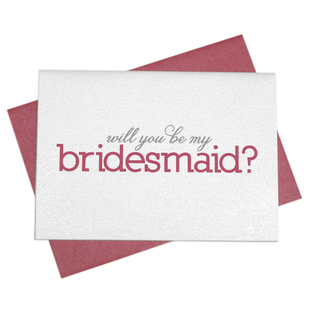 Will You Be My Bridesmaid Proposal Card Color Block Style