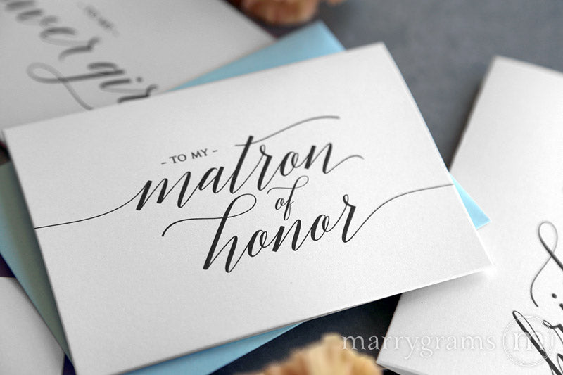 To My matron of honor wedding day thank you Card Delicate Style