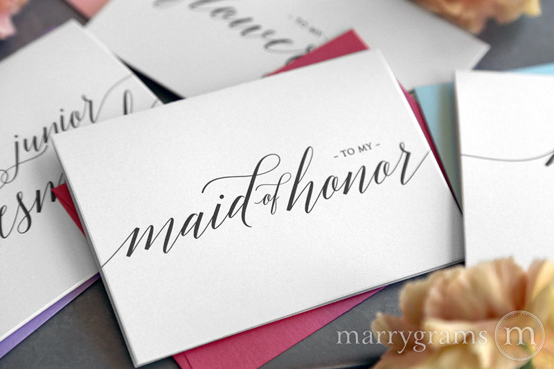 To My maid of honor wedding day thank you Card Delicate Style