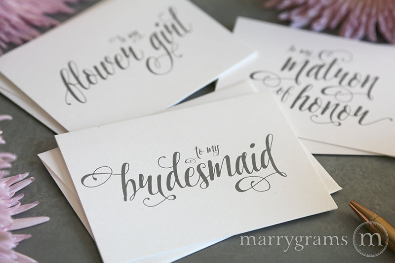 To My Bridesmaid Card Romantic Style
