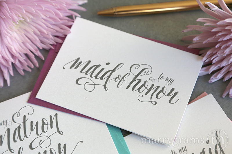 To My Maid of Honor Card Romantic Style