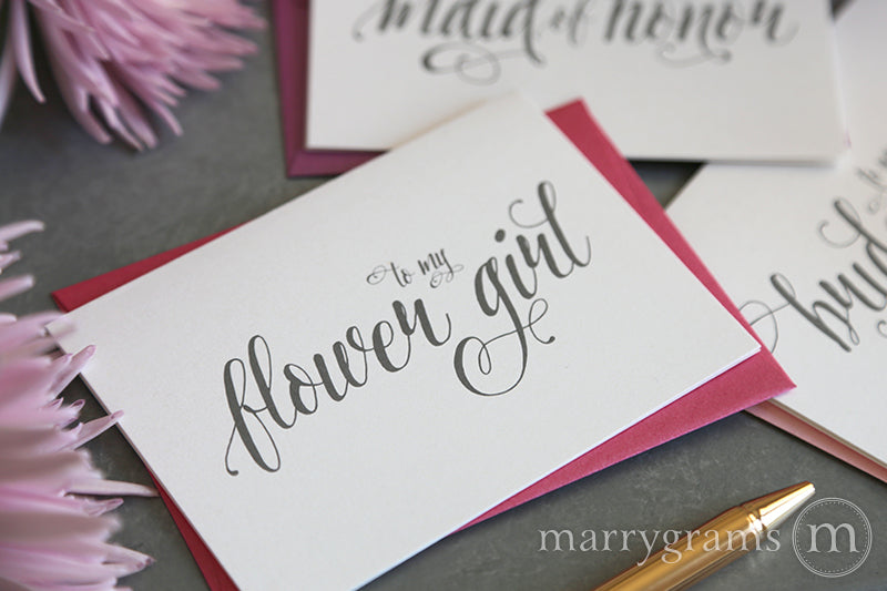 To My flower girl Card Romantic Style