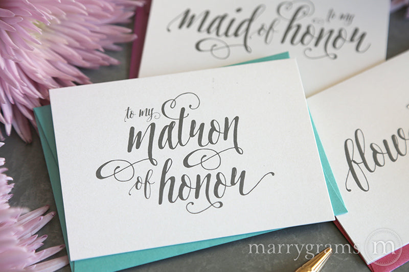To My Matron of Honor Card Romantic Style
