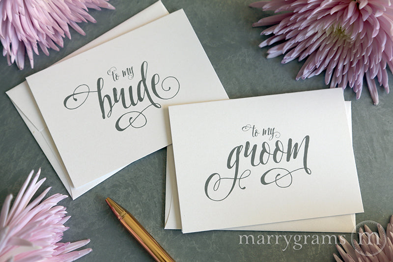 To My Bride or Groom Wedding Day Card Romantic Style
