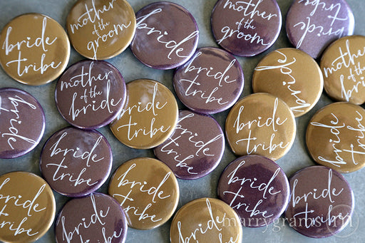 Bride Tribe Bridal Party Buttons