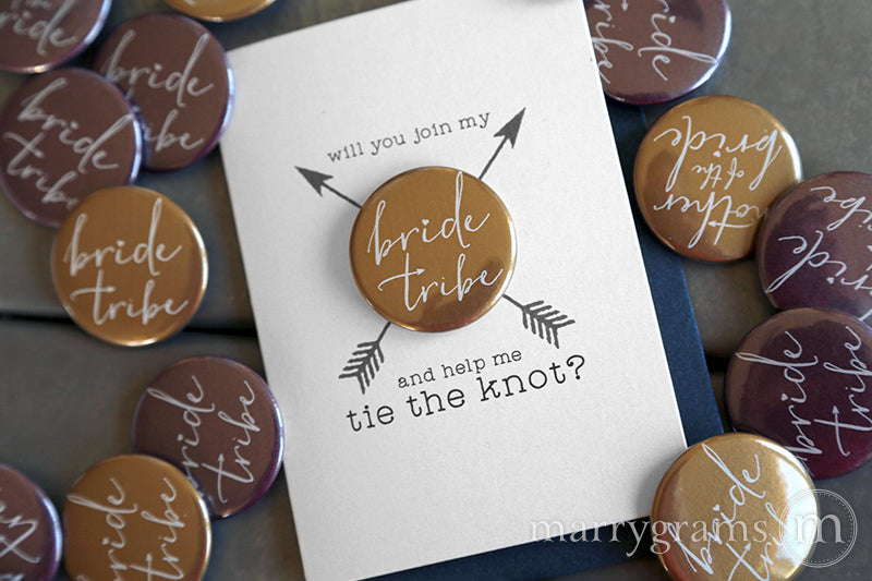 Join My Bride Tribe Button Cards