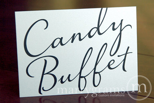 Candy Buffet Wedding Reception Sign Diagonal Style
