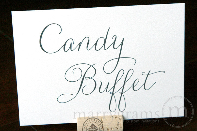 Candy Buffet Wedding Reception Sign Thin Style