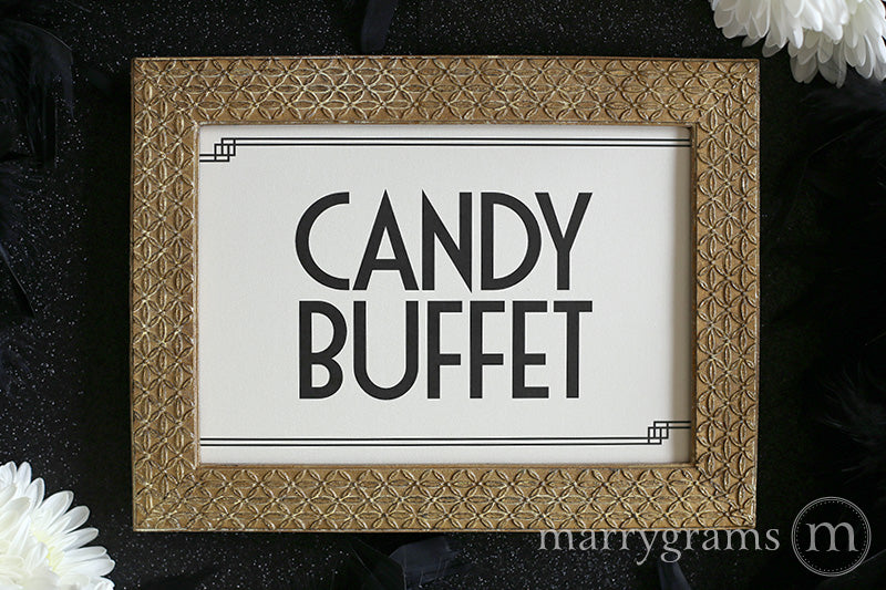 Astonishing Candy Buffet Wedding Reception Sign Deco Style Interior Design Ideas Tzicisoteloinfo